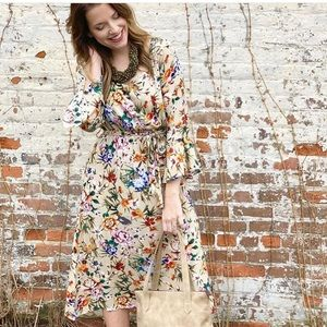 NWT Kori America boho floral Freya dress
